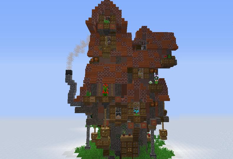large_fantasy-elven-medium-house-7277 (790×540)   minecraft