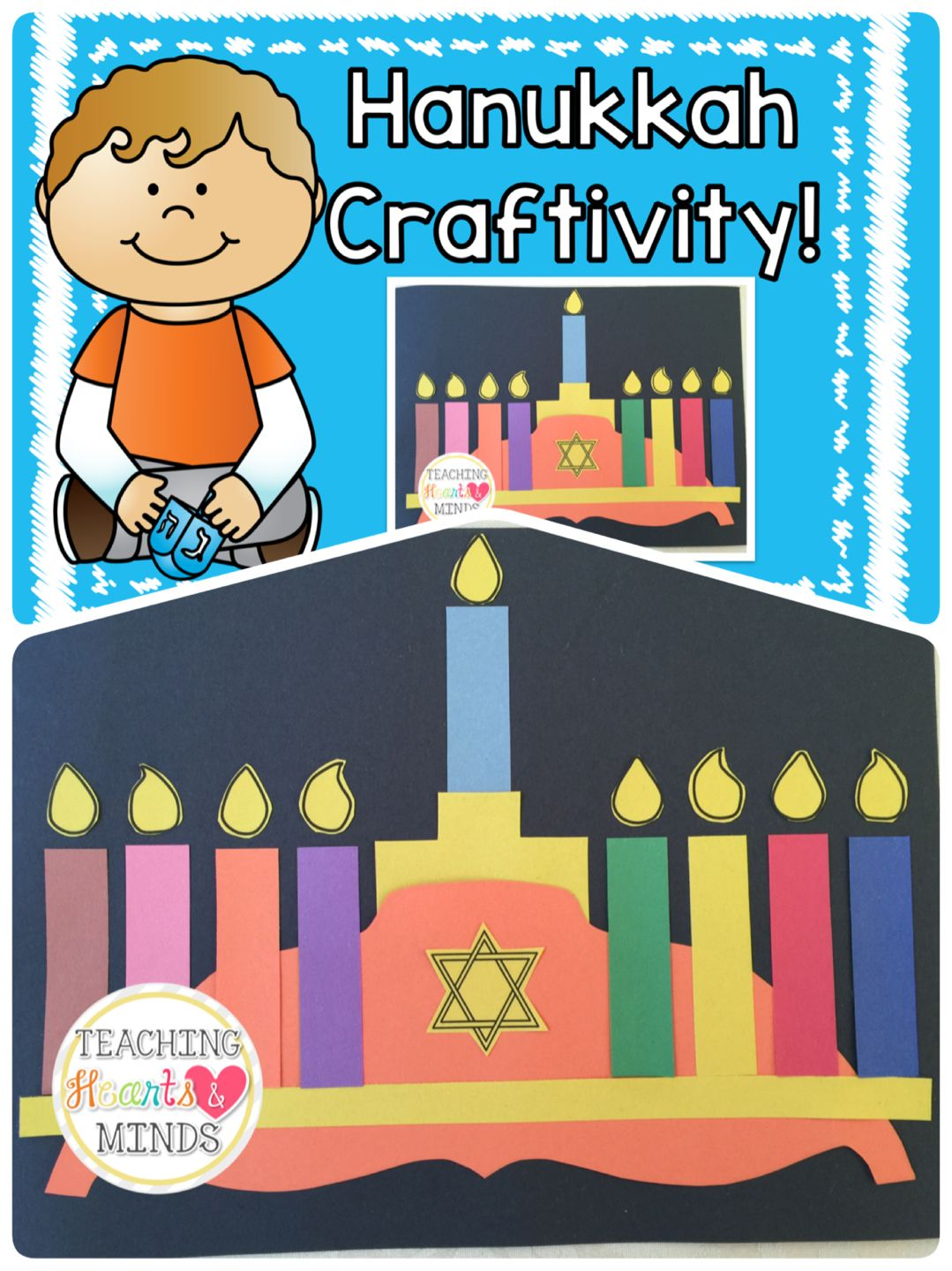 Hanukkah Craftivity To Go With Sammy Spiders First Hanukkah