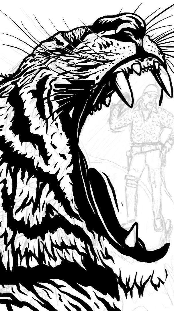 Process video of my Tiger King illustration. Enjoy! #tigerking #bigcats #bigcatrescue #joeexotic #freejoeexotic #docantle #carolbaskin #carolbaskinkilledherhusband #blackwork #process #processvideo