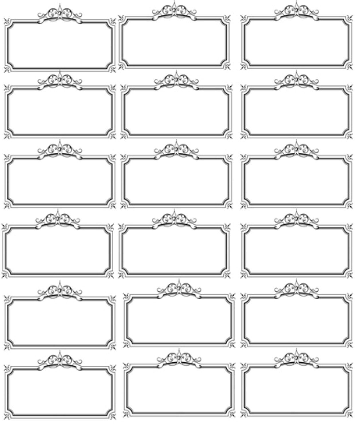 This is a picture of Massif Free Printable Labels Template