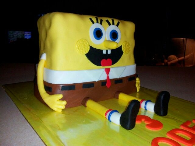 Spongebob 3d cake Birthday cakes Ideas Pinterest Spongebob