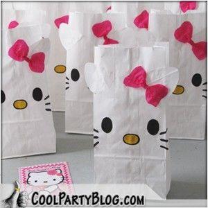 Hello Kitty Gift Bags...DIY