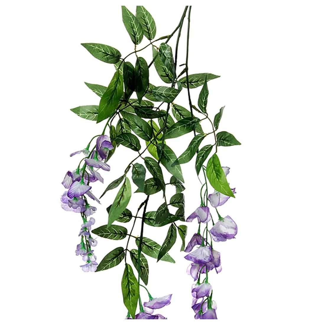 HOT GCZW-Artificial Silk Fake Flower Ivy Vine Hanging Garland ...
