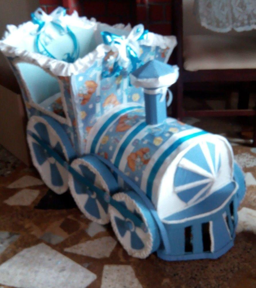 Tren Caja De Regalos Baby Shower Cuna Para Baby Shower