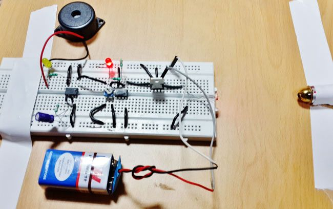 Laser Security Alarm Circuit using IC 555 and LM358 | Education ...