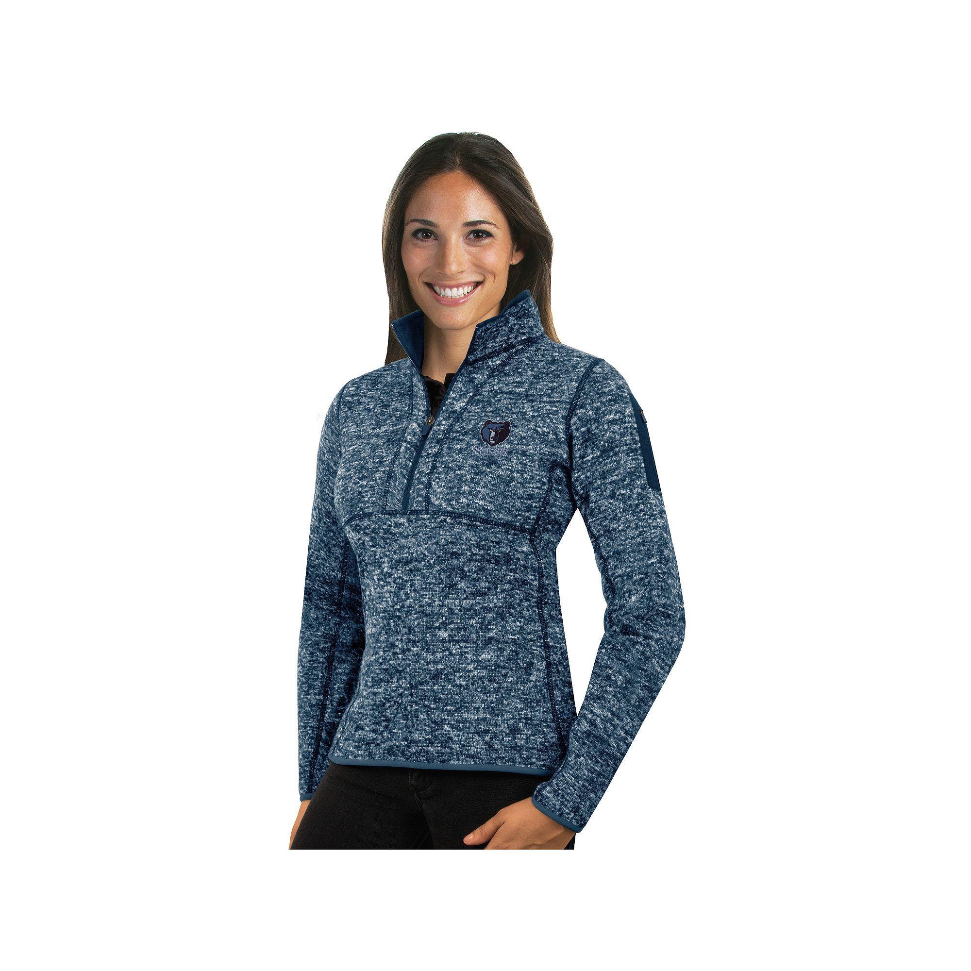 Women's Antigua Memphis Grizzlies Fortune Pullover, Size: XL, Blue ...