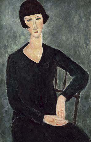 Woman in black. Modigliani.