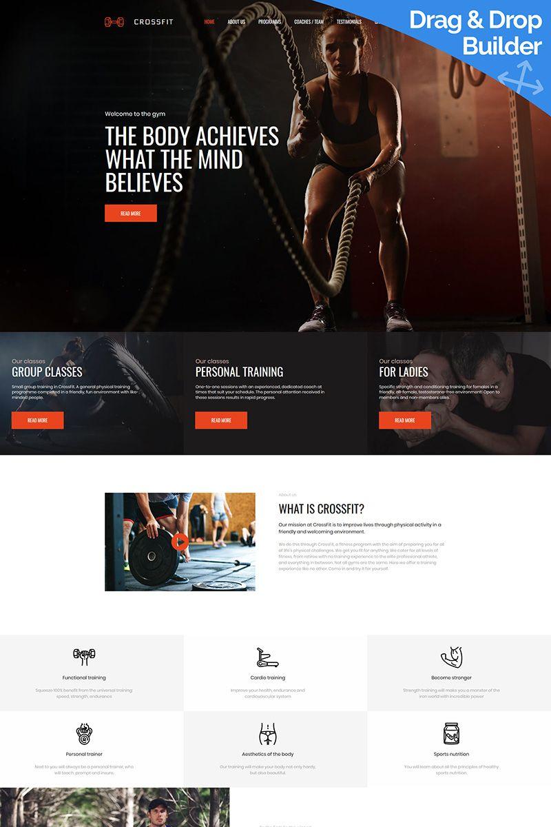 crossfit fitness club premium moto cms 3 template design ideas