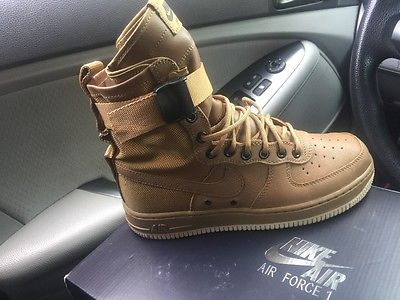 NIKE SF AF1 beige women sz 8.59 DS brand new air force one special force