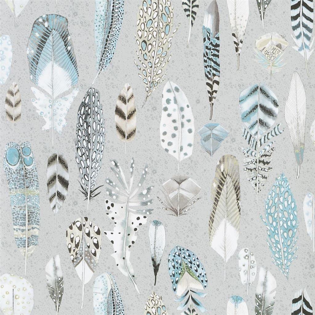 Quill Duck Egg Wallpaper | Designers Guild | Papier peint ...