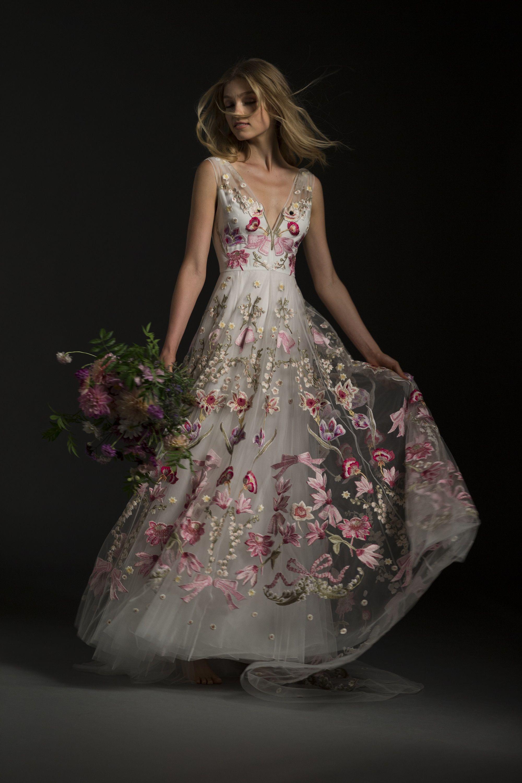 Bibi Dress Temperley London Bridal Winter 2017 Embroidered Wedding Dress Temperley London Bridal Gowns