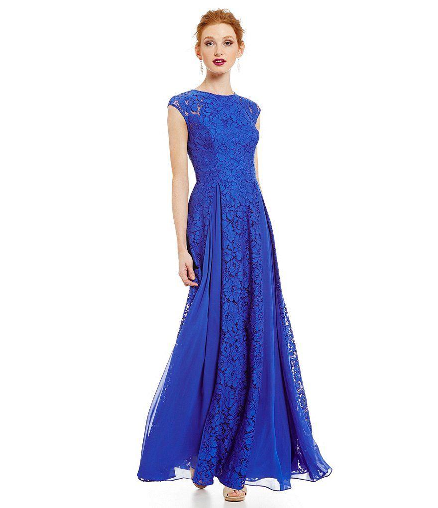 Aidan Aidan Mattox Long Lace Gown   Fabulous Frocks   Pinterest ...