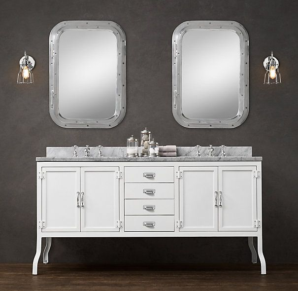 Pharmacy Double Vanity Sink From Restoration Hardware