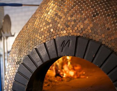 copper penny wood fired oven = genius