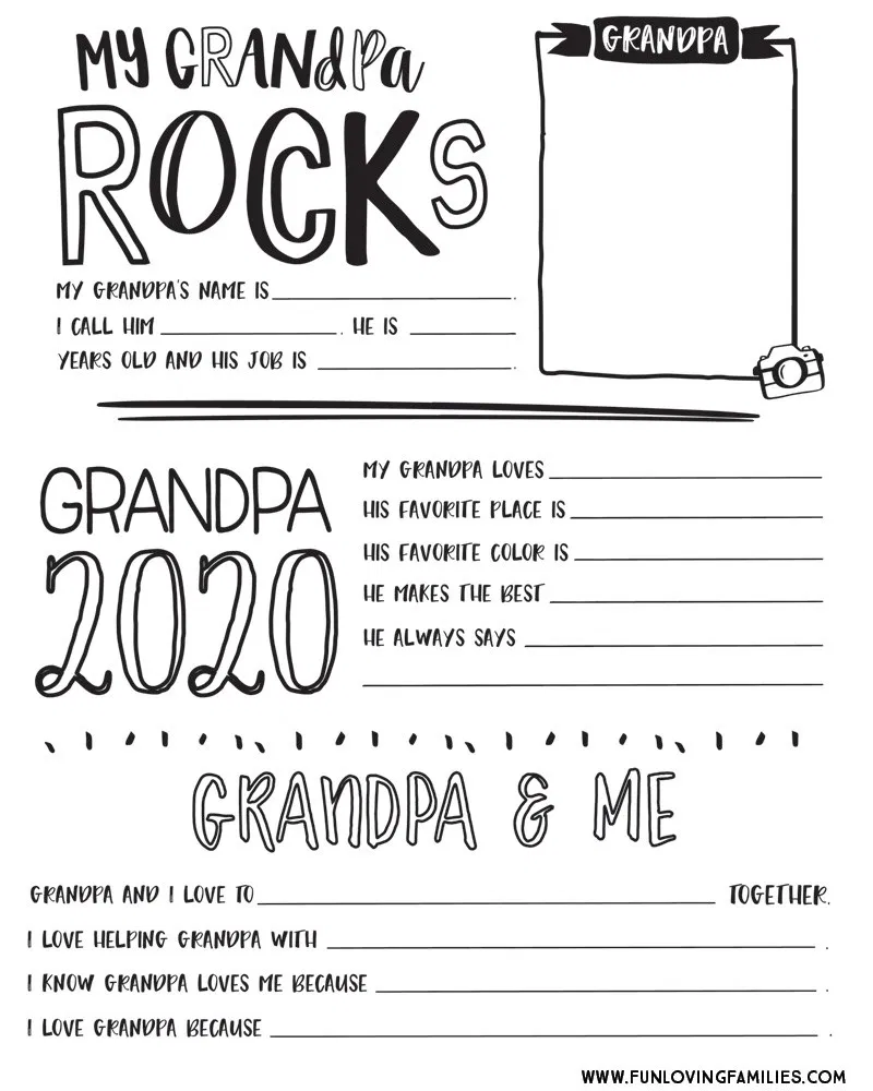 Father's Day Questionnaire Printable 2020: Free Download - Fun Loving Families