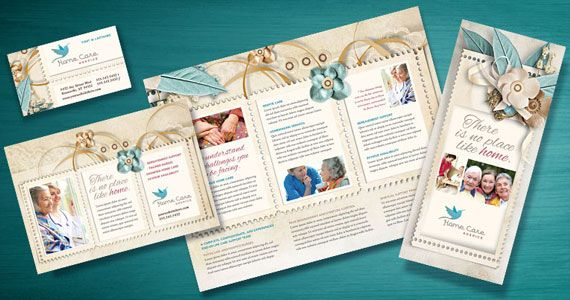 Hospice Home Care Services Brochures Flyers Newsletters Manor - Home care brochure template
