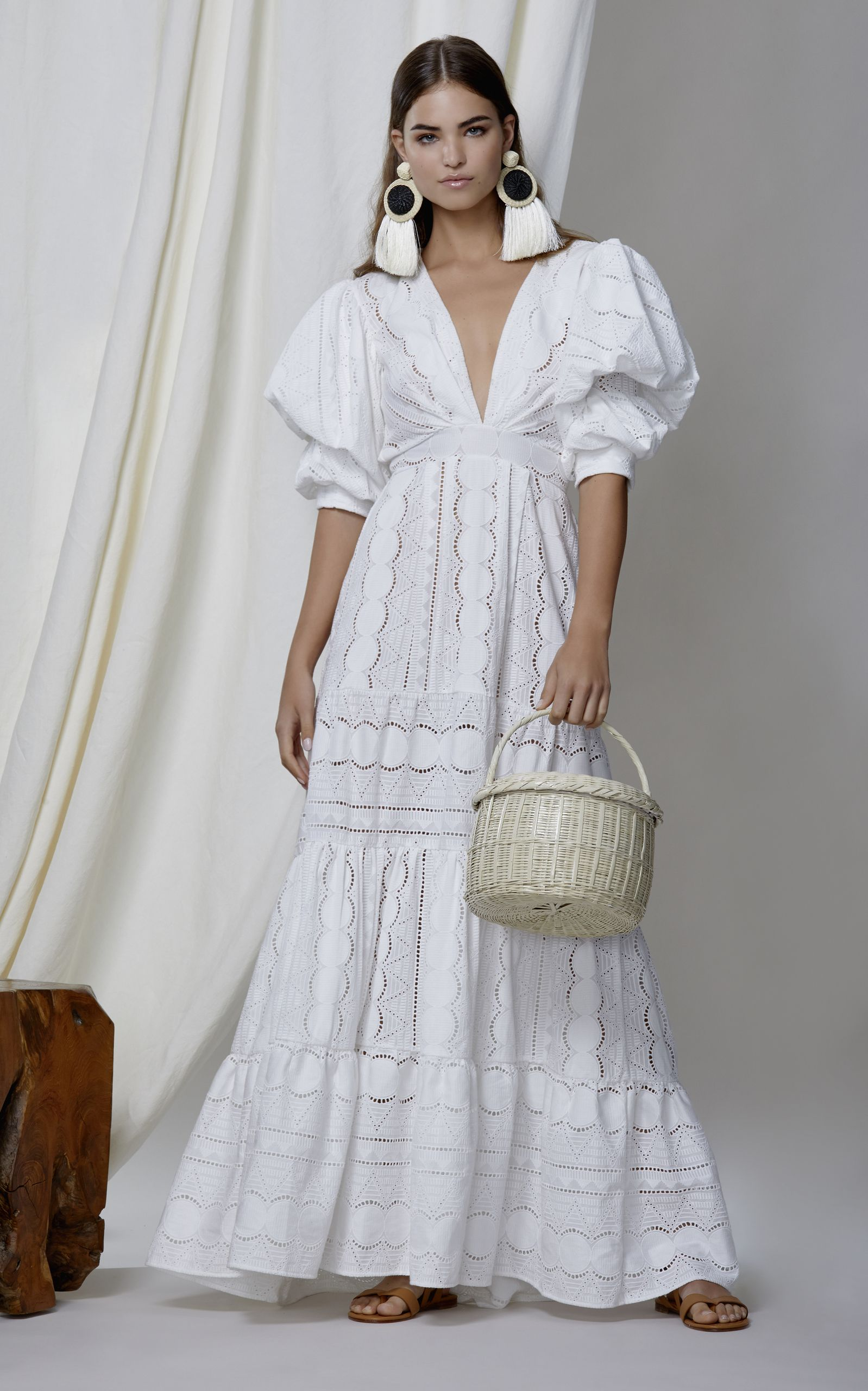 M\'O Exclusive Mademoiselle Sophie Cotton Eyelet Dress by JOHANNA ...