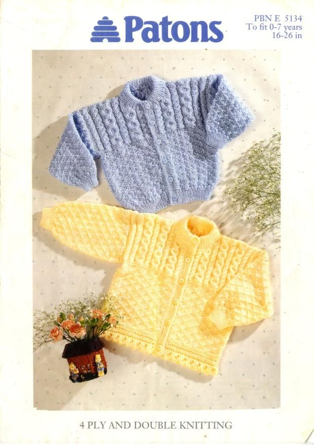 Patons 5134 Cardigans | Free pattern | Pinterest | Knitted baby ...