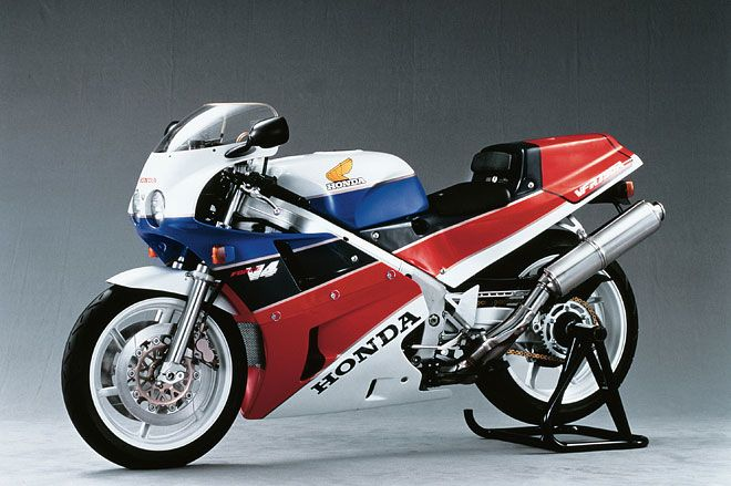 Honda built the RC30 from 1987 until 1990, but it remained a dominant force on the track through the early 1990s. The 748-cc V-4 made just 85 horsepower, but the powerband was about a mile wide.