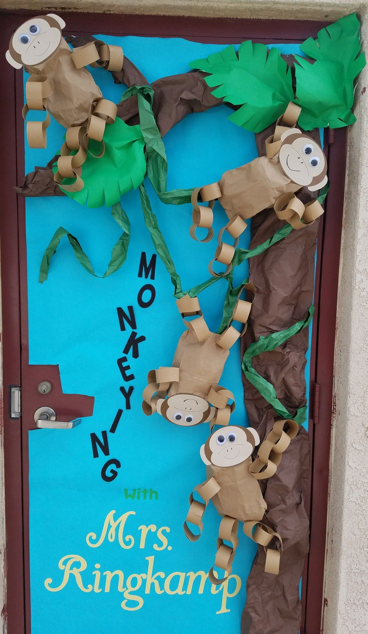 Classroom Door Decoration For Teacher Appreciation Week Monkeying With Insert Name