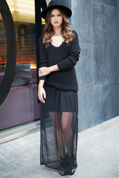 Transparenteinspirations Rjl45a Total Pimkie Noire Jupe Mode Look Avec NO0mv8nw
