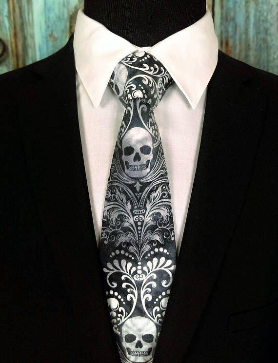Cravate Tête de Mort Homme