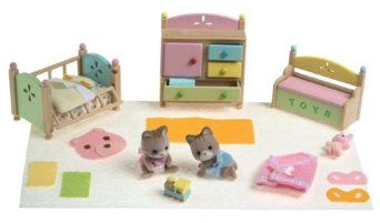 Calico Critters Tanner Tallulahs Nursery Fun Time Nursery Dollhouse Toys Crib Rail