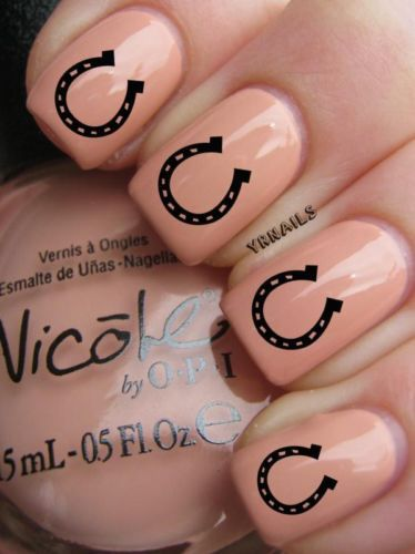 Lucky Horseshoes Cute Nails Rodeo Nails Nails