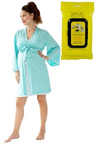 5b8ef6846 Bundle 2 Item Belabumbum Ondine Maternity Nursing Robe SM Bella B  Breastwipes -- To view further for this article, visit the image link.