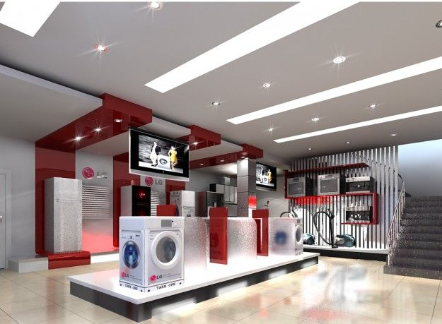 3d Model Appliance Store 3d Architectural Interior In