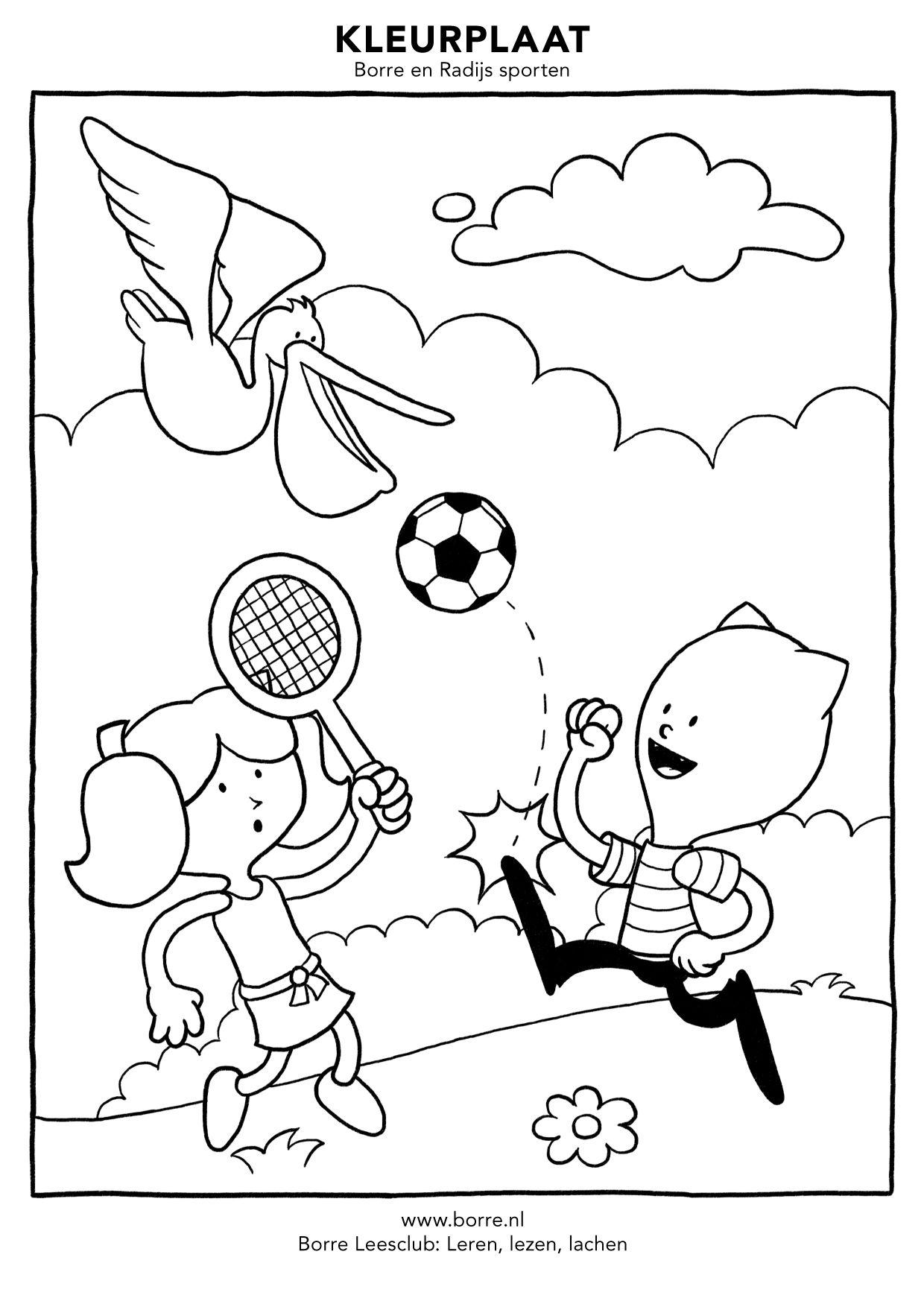 Borre En Radijs Sporten Kleurplaten In Hogere Kwaliteit Zijn Te Downloaden En Printen Vanaf Www Borre Nl Klik Daar Op Doe Kleurplaten Kleurpotloden Prints