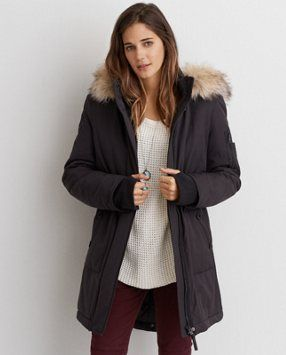 warm up to true style shop the aeo long parka from