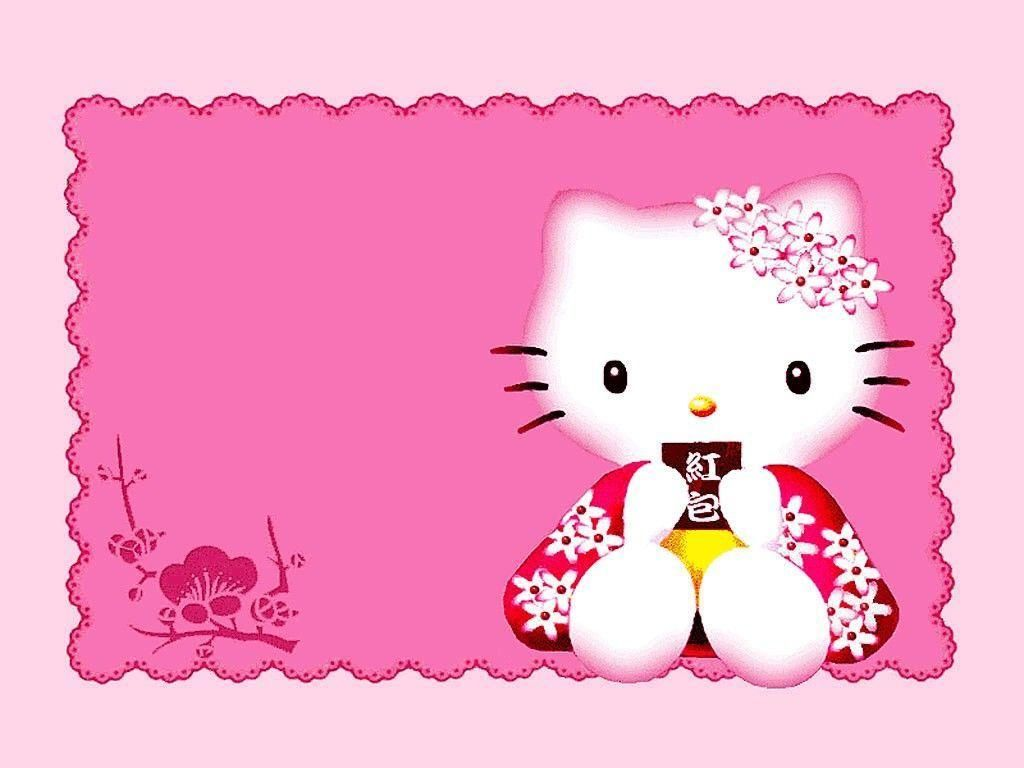 Download Hello Kitty Border Wallpapers 1024x768 Hello Kitty Invitation Card Hello Kitty Invitations Hello Kitty Images