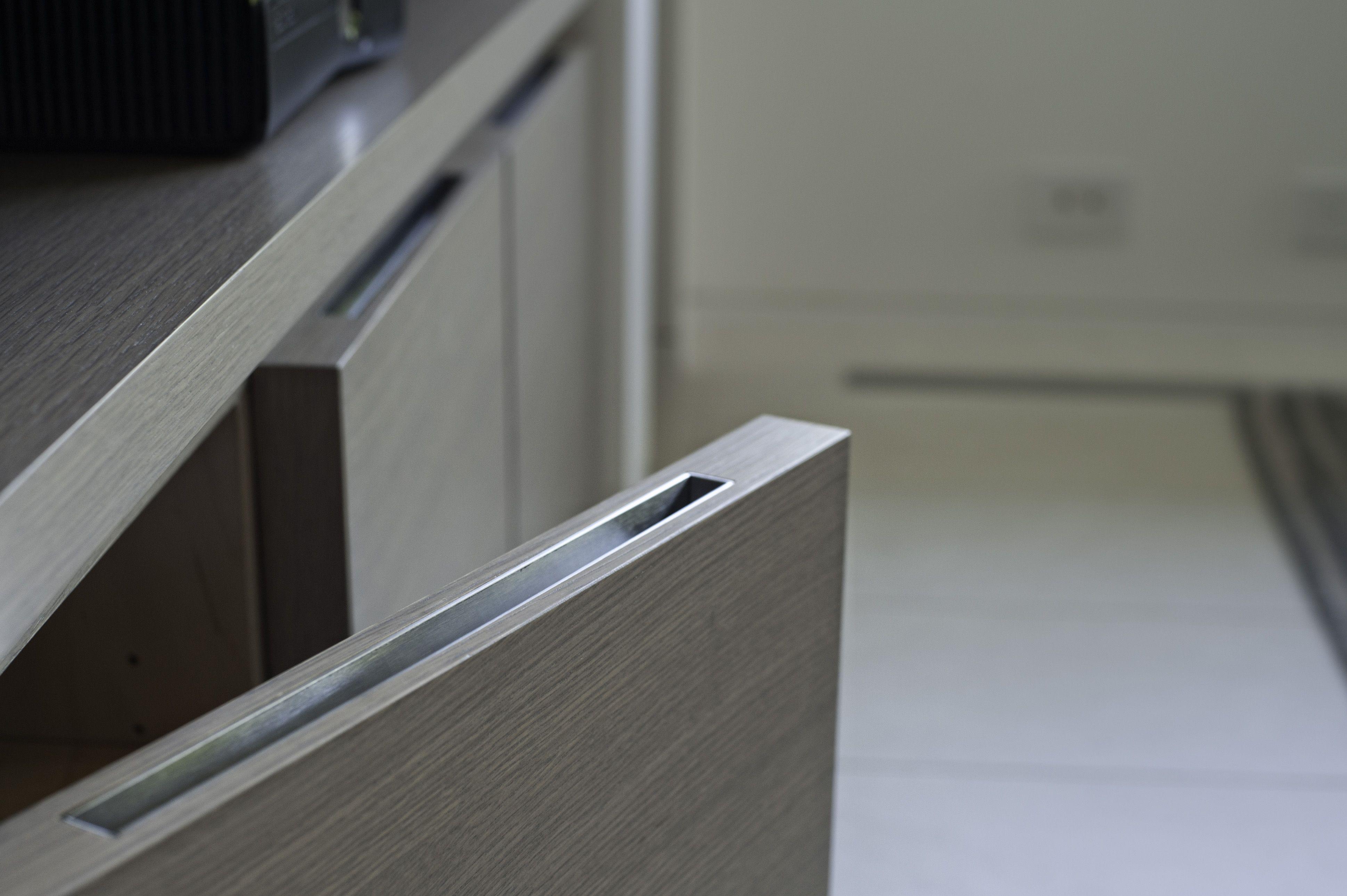 Custom Recessed Pull Inlay Cabinet Hardware Modern Www