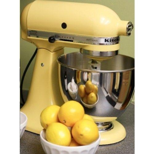 Kitchenaid 5ksm175psbmy Artisan Stand Mixer Majestic Yellow Kitchen Aid Yellow Kitchen Kitchen Aid Mixer