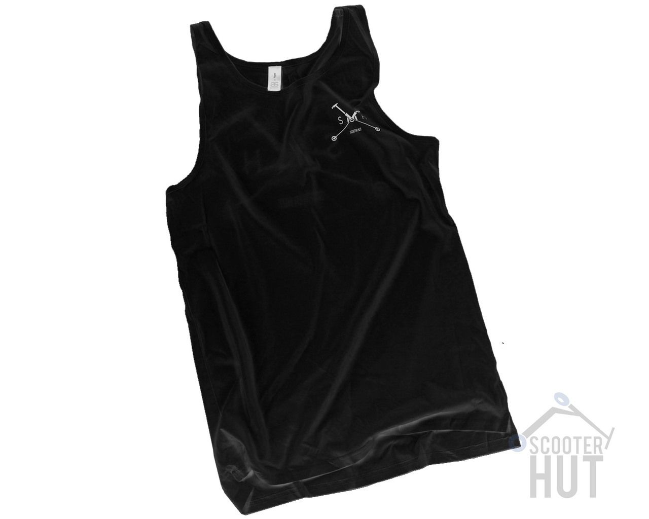 Lucky scooters deep roots t shirt airborne action sports - Scooter Hut Singlet Boss Black Scooter Hut