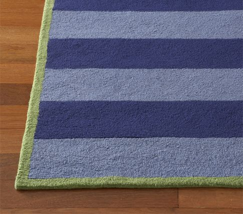 Boys Rugby Stripe Rug Striped Rug Pottery Barn Kids Rugs