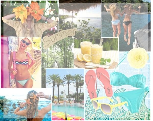 """""""Poolside?"""" by hopelessly-insecure on Polyvore"""