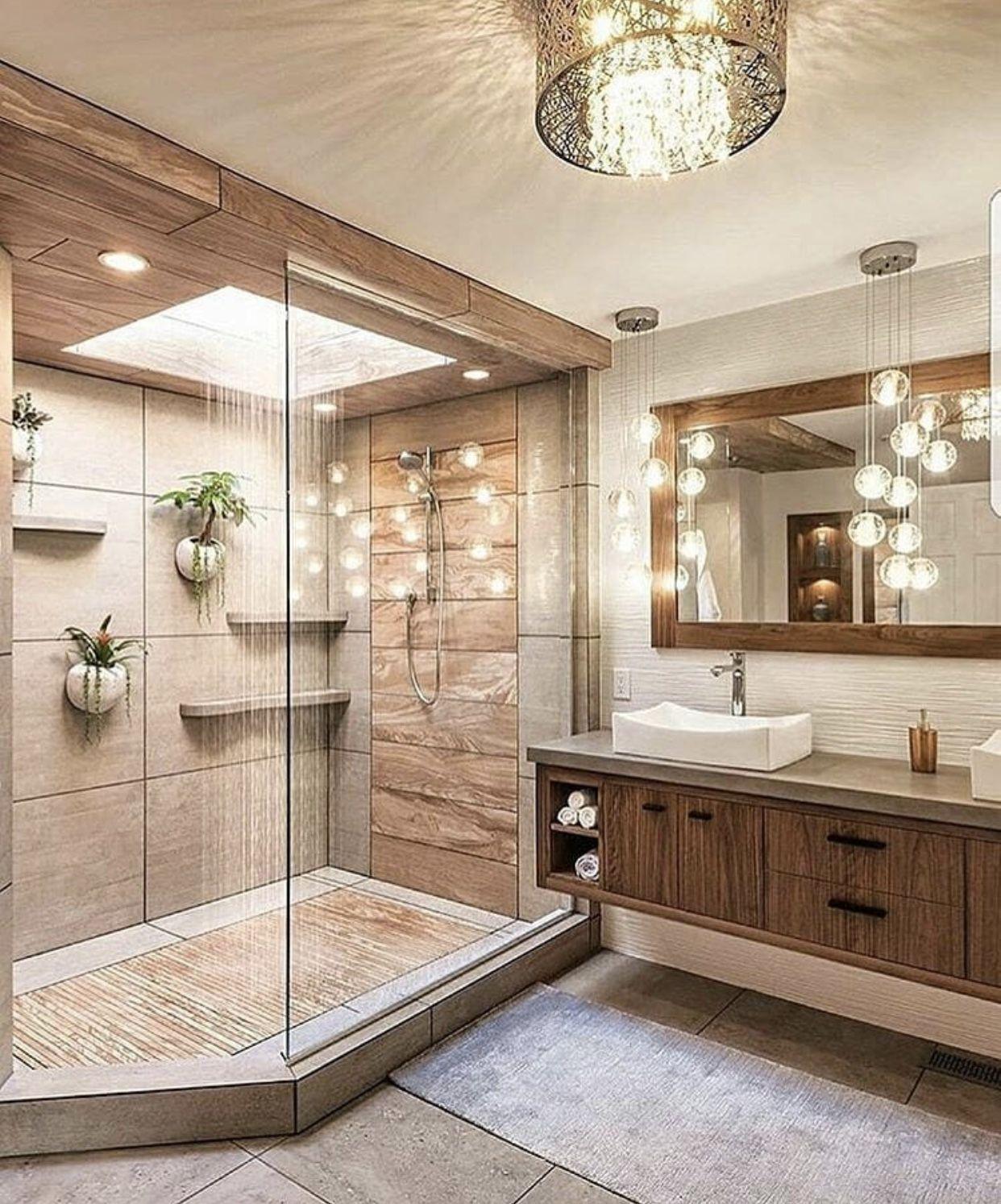 Shower Area In Dark Colors Showertiles In 2020 Haus Design Haus Innenarchitektur