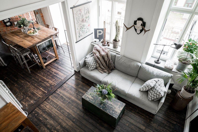 Super leuk klein appartement vol leuke ideeën - Woonkamer ...