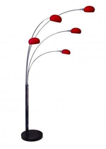 Details About Dana Lounge 5 Arm Arc Floor Lamp With Marble Base