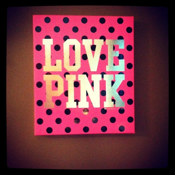 Use the lid of a Victoria\'s Secret box as wall decor! | Good Ideas ...