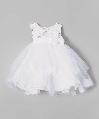 White Soutache Petal Dress - Infant & Toddler