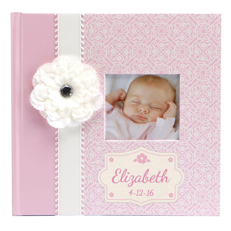 Personalized baby girl photo journal album newborn baby personalized baby girl photo journal album newborn baby personalized planet negle Images