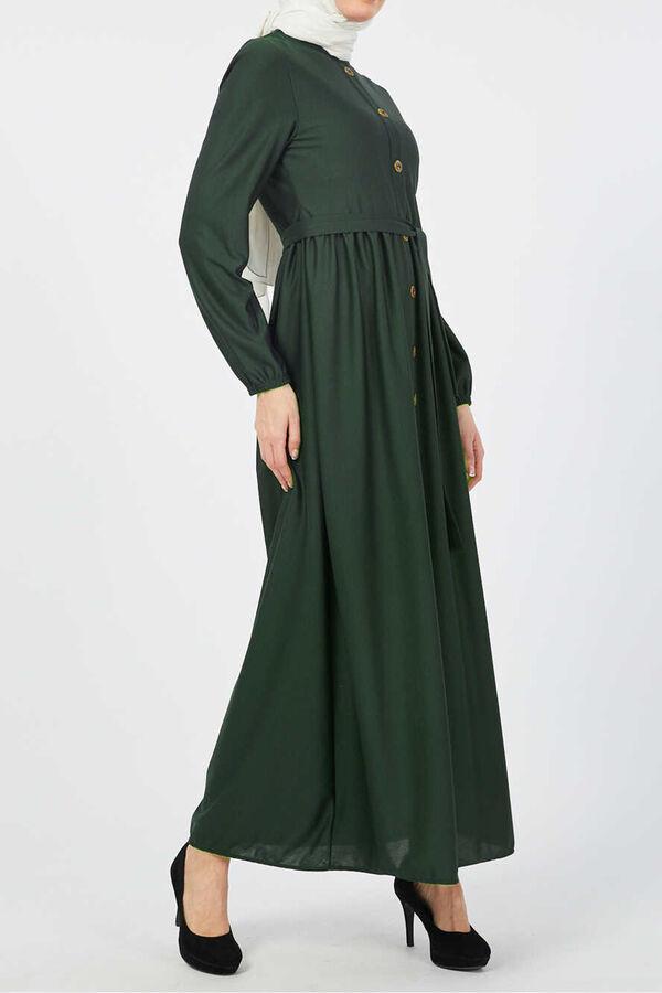 فستان أخضر بوليستر ليجرا تسوق أون لاين حجاب مودانيسا أزياء محجبات ملابس محجبات فساتين جلباب عباية ملابس فستان تو In 2021 Dresses Dresses With Sleeves Fashion