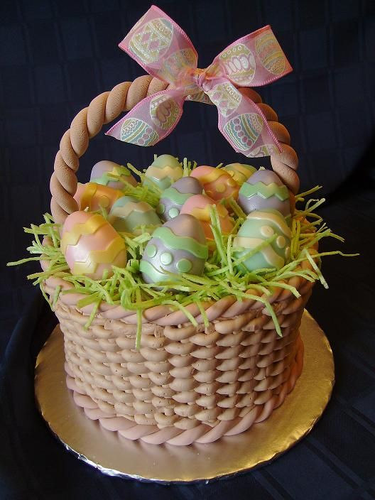 Easter basket cake cakes i want to try making pinterest easter basket cake negle Gallery