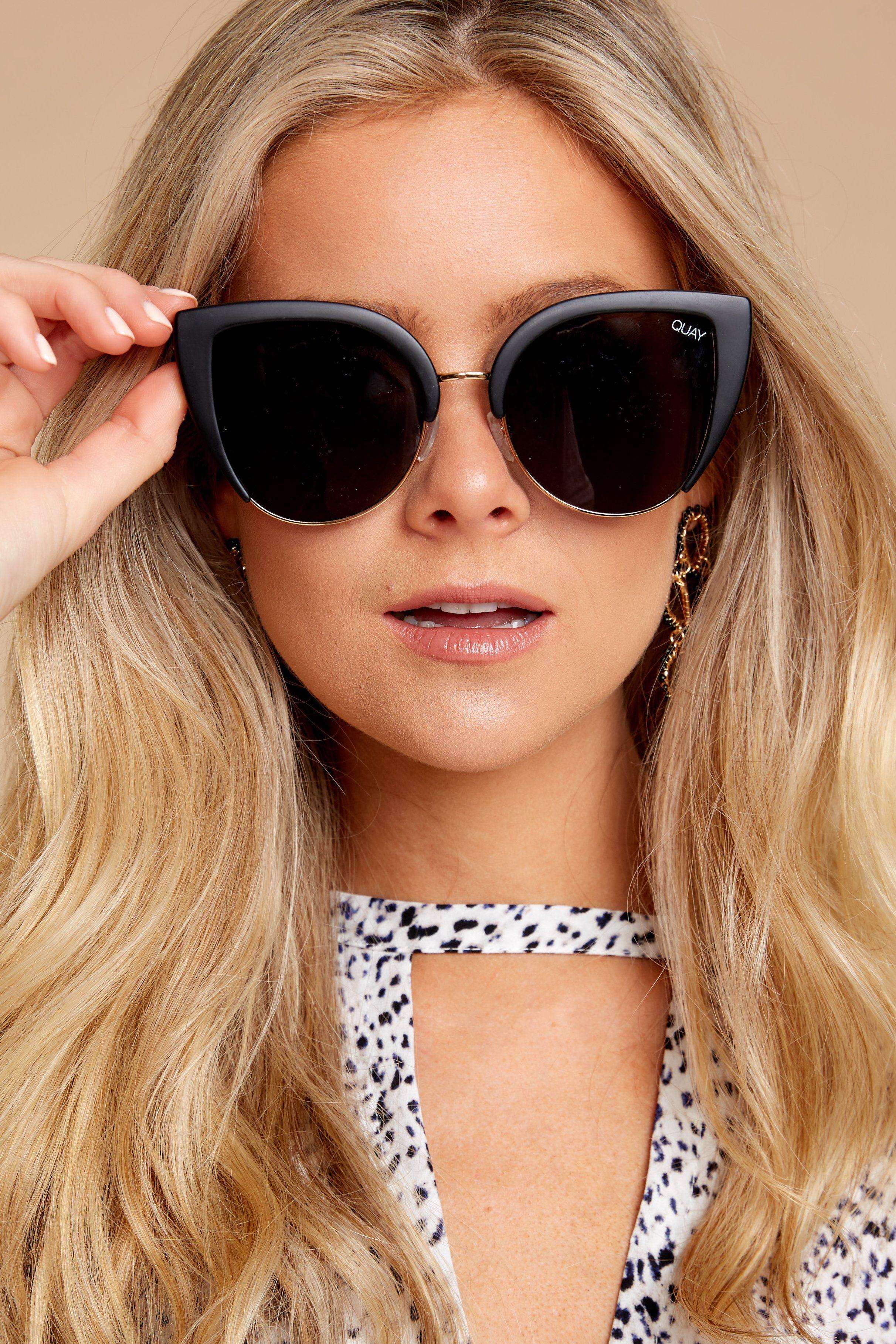 851cbdd30d Quay Australia Oh My Dayz Black Sunglasses - Trendy Sunglasses - Sunglasses  -  60.00 – Red Dress Boutique