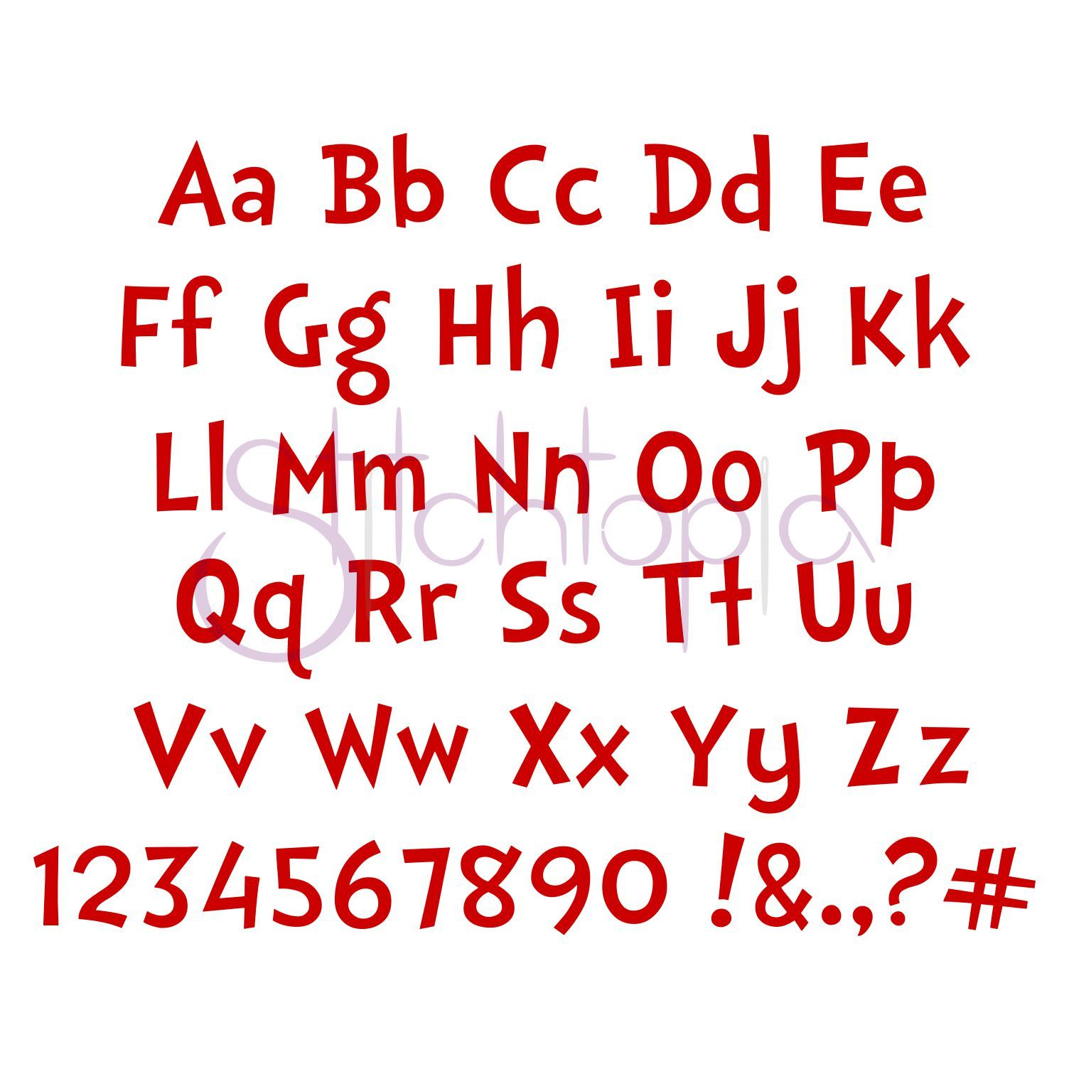 Dr Soos Embroidery Font Set