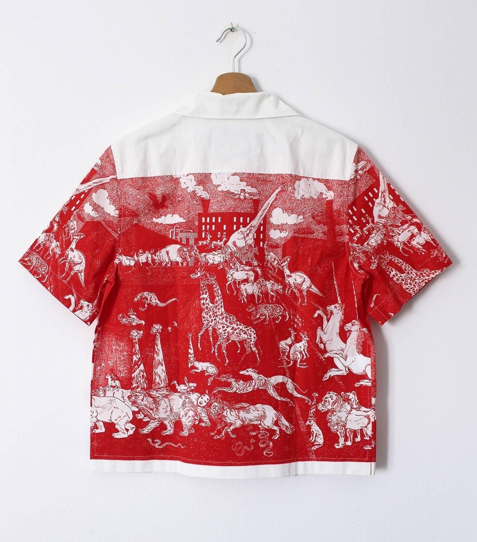 Prada Bnwt Aw 16 17 Christophe Chemin Print Shirt Size Us M Eu 48 Andrew Smith Floral Printed Navy Xxl