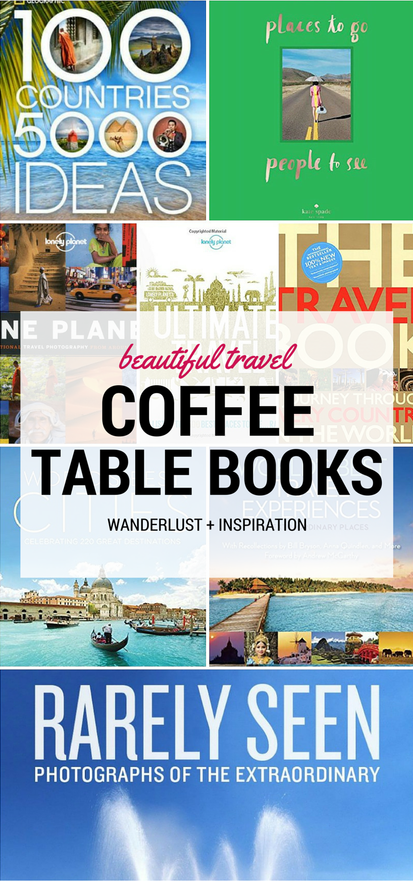 16 Beautiful Travel Coffee Table Books Every Wanderluster Should Own Coffee Travel Travel Book Travel